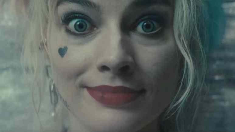 Margot Robbie as Harley Quinn on drugs in Birds of Prey.