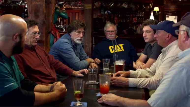 Oak Island team in a bar