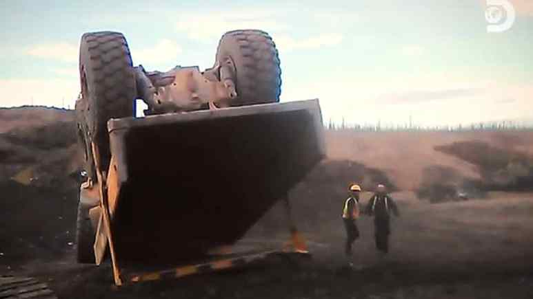 This is what happens when you drive a huge multi-ton truck 100 MPH on a dirt road that is uneven, Pic credit: Discovery