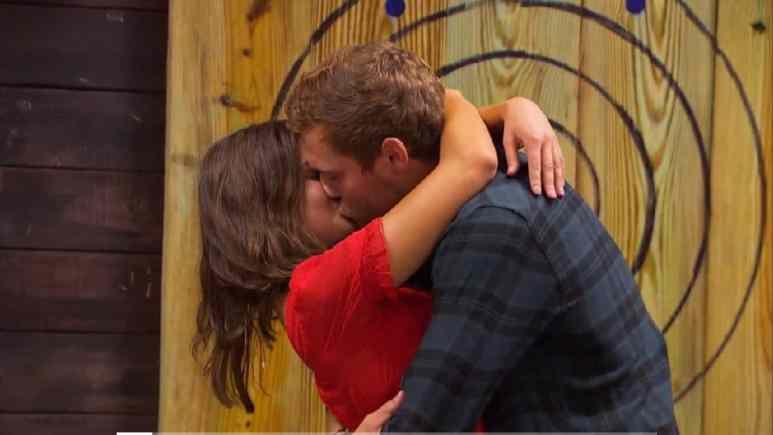 The Bachelor Peter Weber and Hannah Ann Sluss kiss on hometown dates.