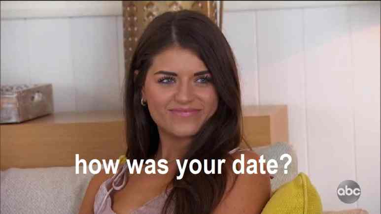 Madison Prewett asks how was your date on bachelor fantasy suite week