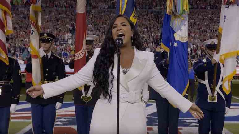 demi lovato sings national anthem at super bowl 2020