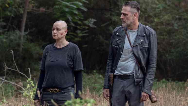 Samantha Morton as Alpha and Jeffrey Dean Morgan as Negan