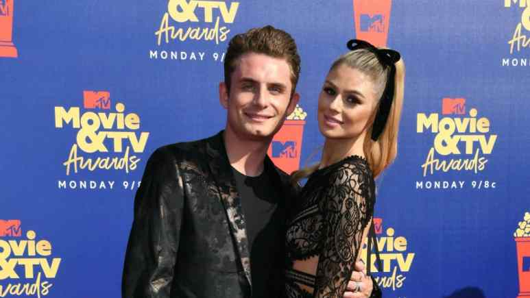 James Kennedy and Raquel Leviss at the MTV Awards in 2019.