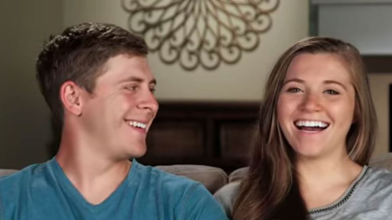 Joy-Anna Duggar and Austin Forsyth in a Counting On confessional.