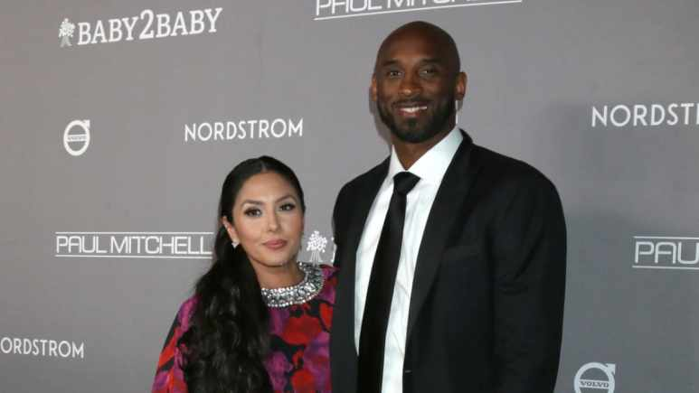 Kobe and Vanessa Bryant on the red carpet