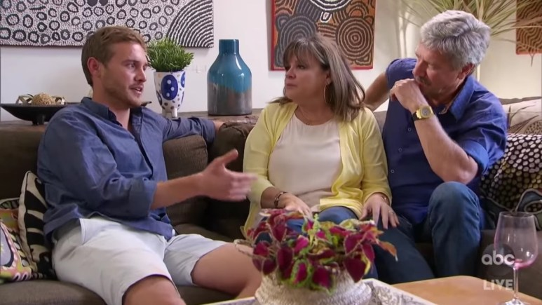 Peter Weber and his parents on The Bachelor