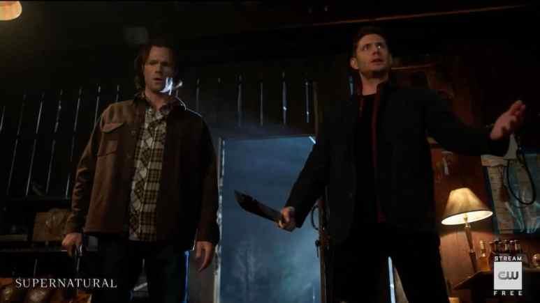 Sam (Jared Padalecki) and Dean (Jensen Ackles) in Supernatural season 15
