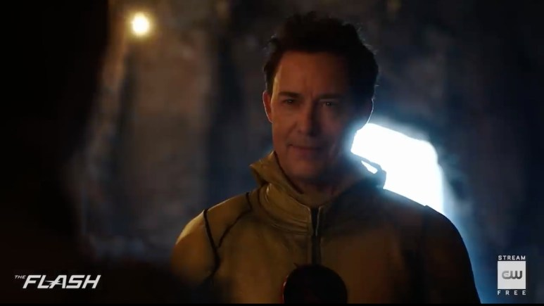 Eobard Thawne (Tom Cavanagh) returns from the dead to taunt Barry on The Flash. Pic credit: The CW