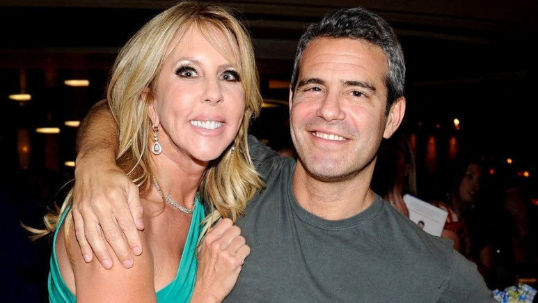 Vicki Gunvalson, Andy Cohen talk about her future on the RHOC alum's podcast.