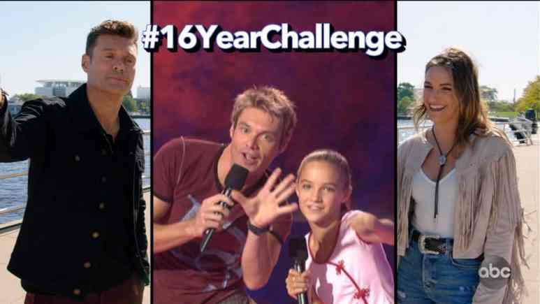 Grace Leer and Ryan Seacrest pose on American Juniors and American Idol