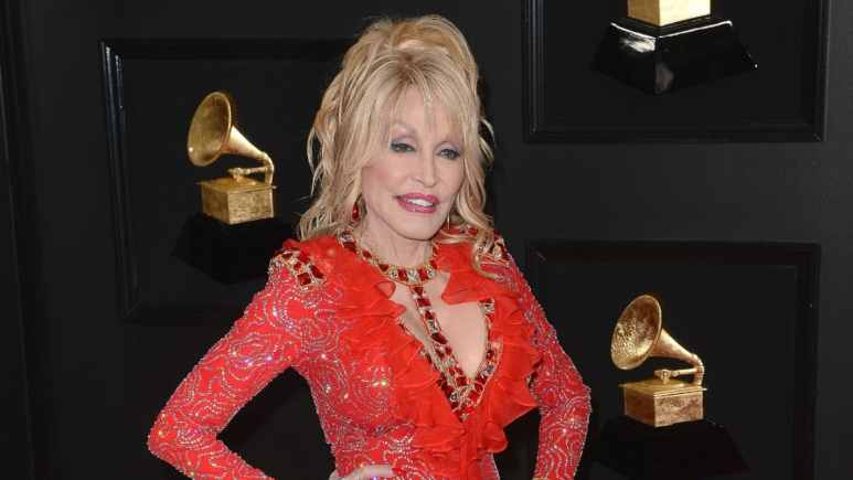 Dolly Parton on the red carpet