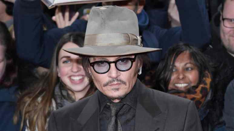Johnny Depp on the red carpet