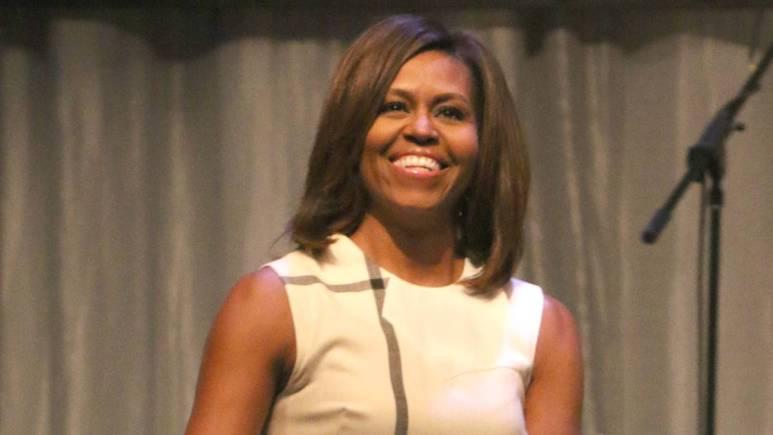 Michelle Obama after a speech