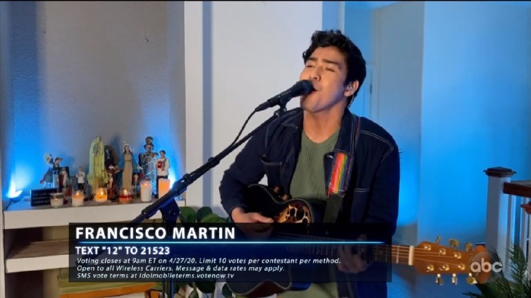francisco martin singing at home