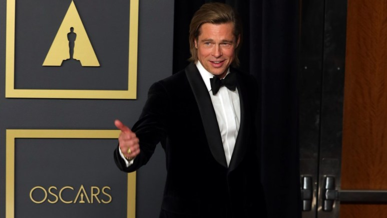Brad Pitt learned to kiss from a Downton Abbey star.