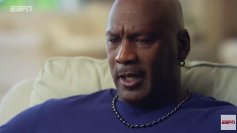 Michael Jordan being interviewed