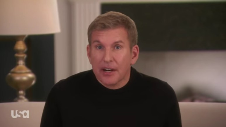 Todd Chrisley in a Chrisley Knows Best confessional.