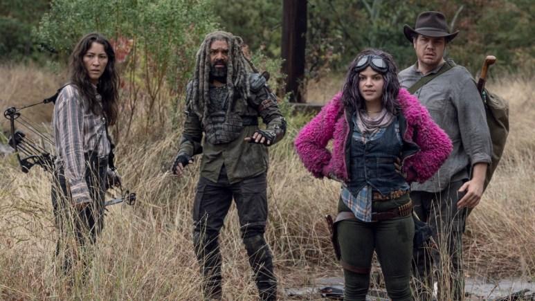 Eleanor Matsuura as Yumiko, Khary Payton as Ezekiel, Paola Lazaro as princess, and Josh McDermitt as Eugene