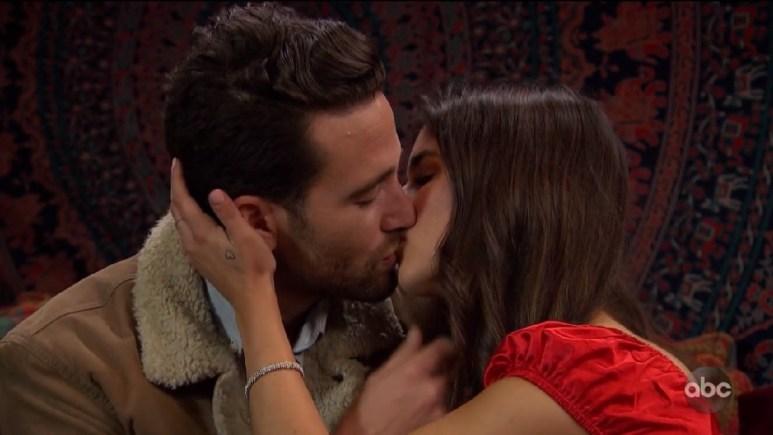 Jamie and Trevor kissing