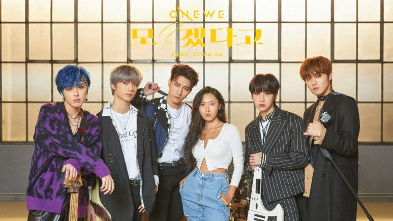 ONEWE and Hwasa in comeback poster
