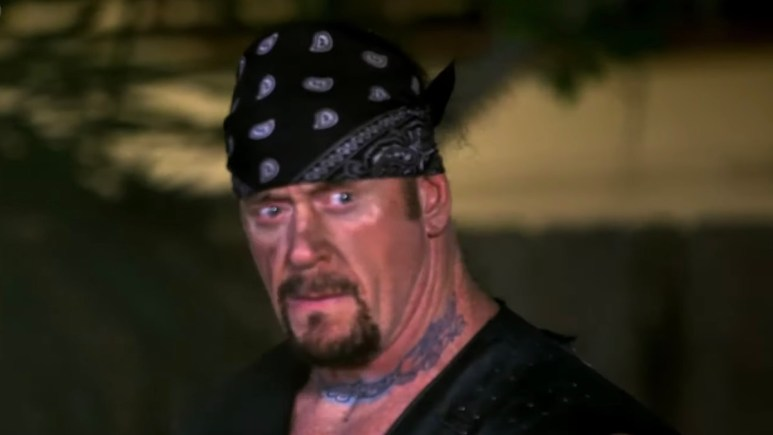 the undertaker during wrestlemania 36 match