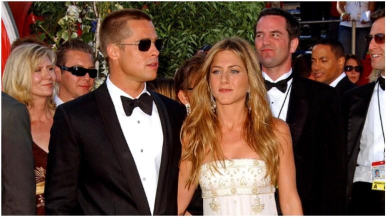 Brad Pitt and Jennifer Aniston on the red carpet