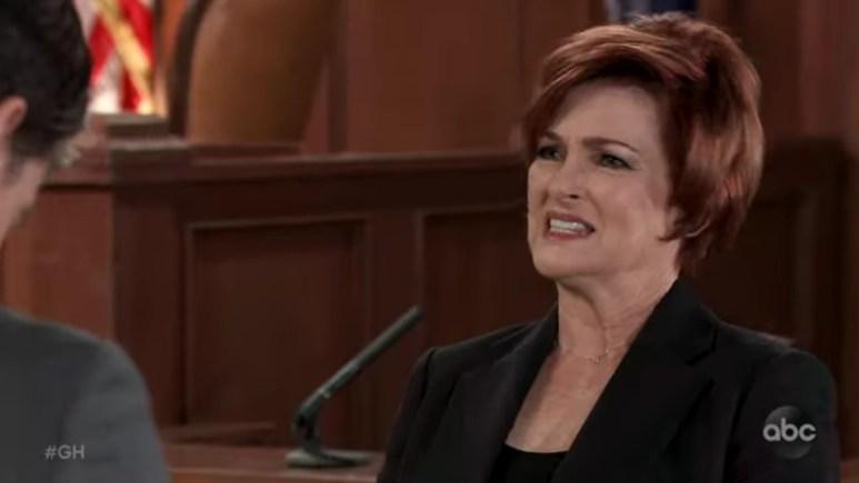 Carolyn Hennesy as Diane Miller on General Hospital.