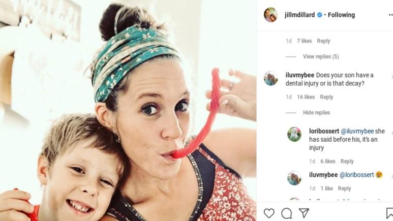 Jill Duggar was questioned on Instagram.