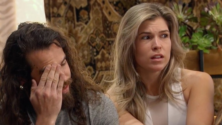 On Season 1, Episode 4 of Listen to Your Heart, Sheridan and Julia look stressed.