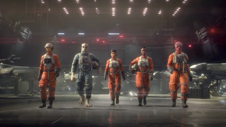 Footage from Star Wars Squadrons