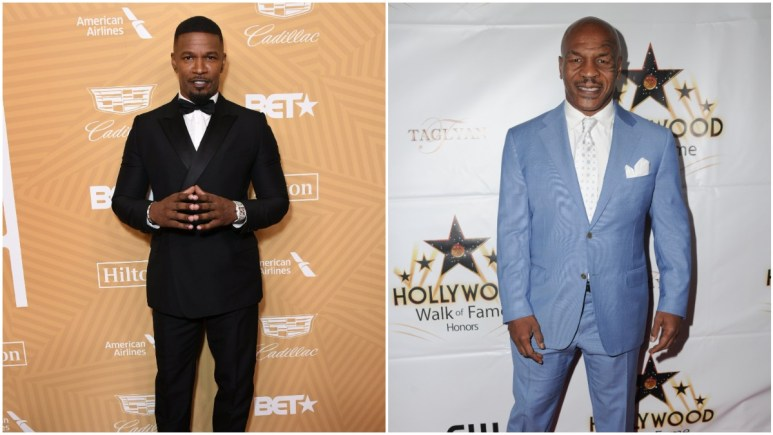 Jamie Foxx has been working hard to build up a physique that matches Mike Tyson.