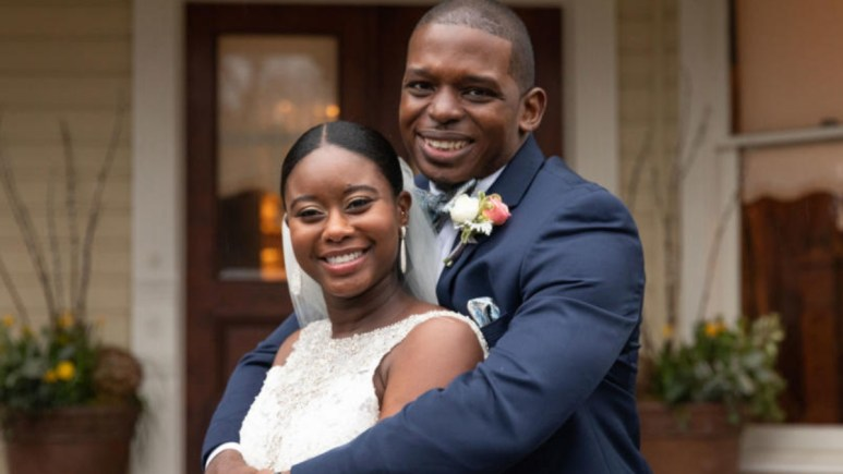 Greg Okotie and Deonna McNeil on their Married at First Sight wedding day