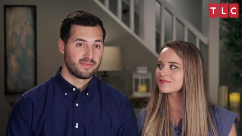 Jinger Duggar and Jeremy Vuolo in a Counting On confessional.