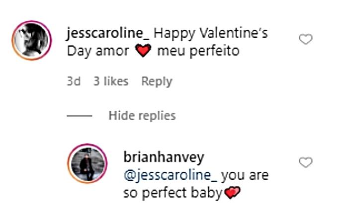 Jess Caroline responds to BF