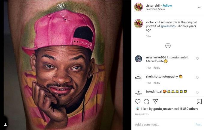 Tattoo artist Victor Chil