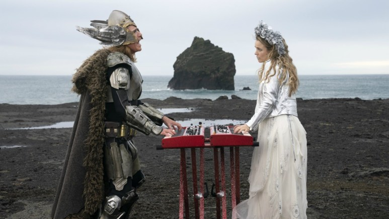 Will Ferrell as Lars Erickssong, Rachel McAdams as Sigrit Ericksdottir in Eurovision Song Contest: The Story of Fire Saga