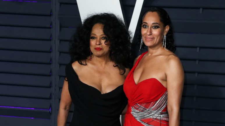 Tracee Ellis Ross and Diana Ross on the red carpet
