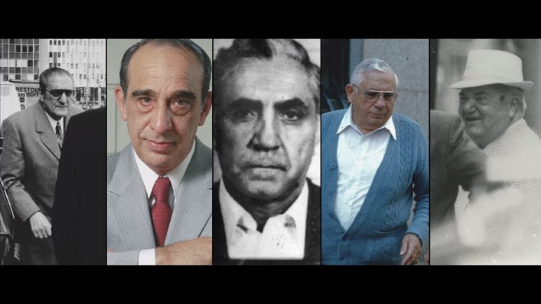 Shot of the 5 heads of the New York crime family's in 1980