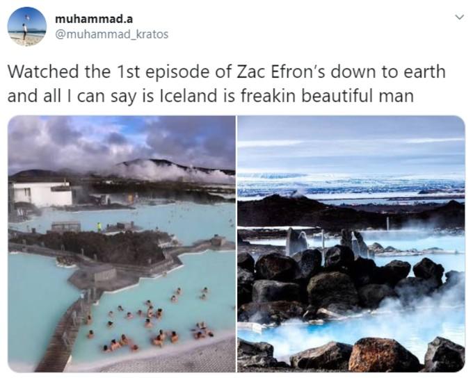 Twitter user praises Iceland