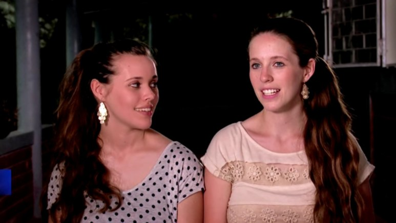 Jill and Jessa Duggar in a Counting On confessional.