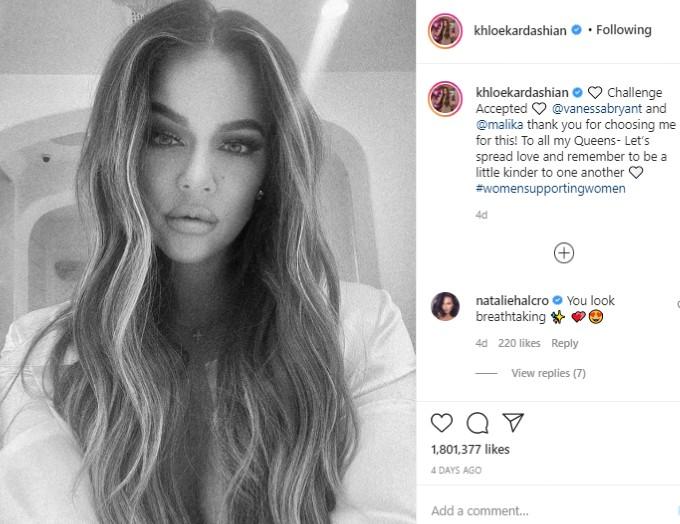 Instagram post from Khloe Kardashian