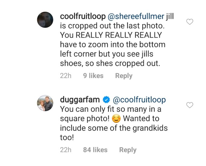Michelle Duggar comments on IG.