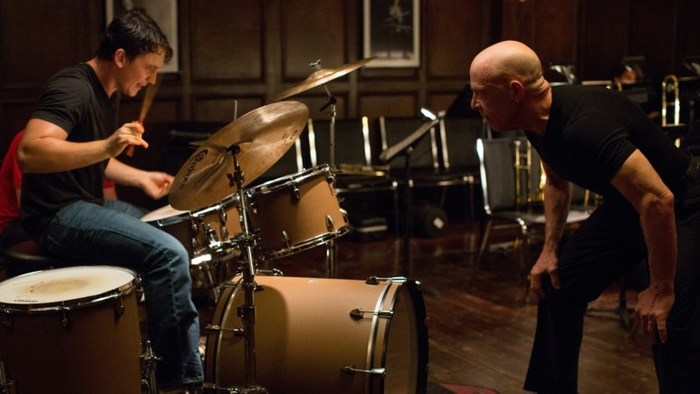 Miles Teller and J.K. Simmons in Whiplash