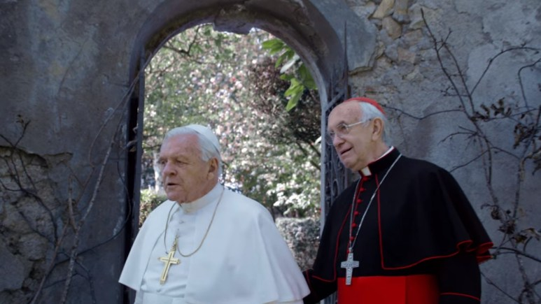 A scene from The Two Popes
