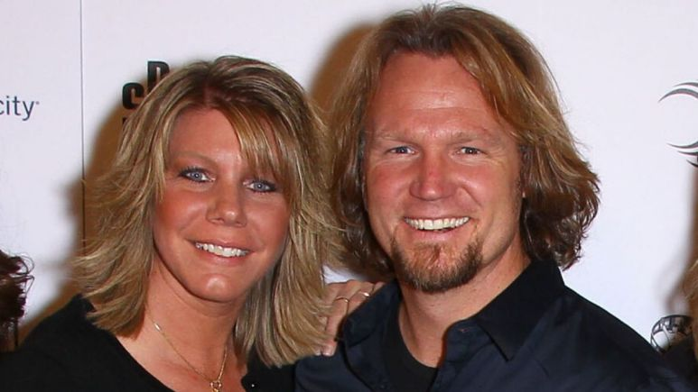 Meri and Kody Brown at an event