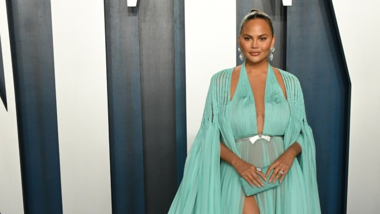 Chrissy Teigen on the red carpet