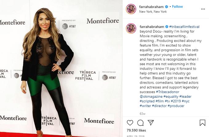 Farrah Abraham poses at an event