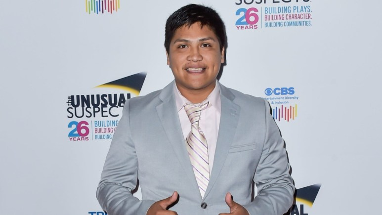 Johnny Ortiz on the red carpet