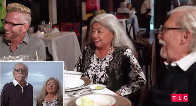 90 day fiance other way season 2 Kenny at dinner table with Armando's friends Rita and Charles